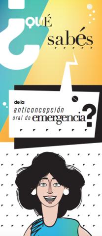 Brochure Anticoncepción de emergencia