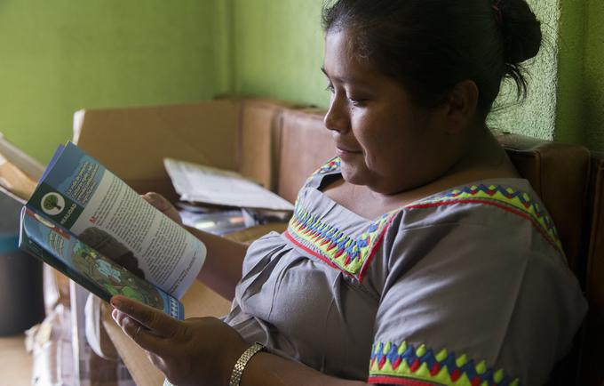 Miriam Sire, indígena ngäbe residente en Los Santos.